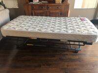 Twin trundle bed and mattress