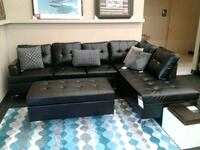Brand New Black Leather Sectional w/ Ottoman  Norfolk, 23503