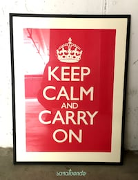 "Stampa ""Keep Calm & Carry On"" incorniciata Bologna BO, Italia"