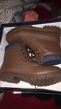 pair of brown leather work boots Trumbull, 06611