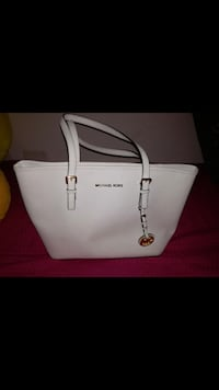 Tote bag in pelle michael kors bianca Roma, 00187