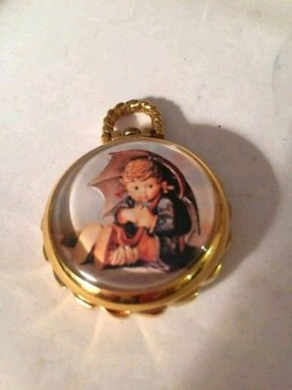 bbca69b47 Used Vintage M J HUMMEL Umbrella Girl Pocket Watch for sale in Calgary