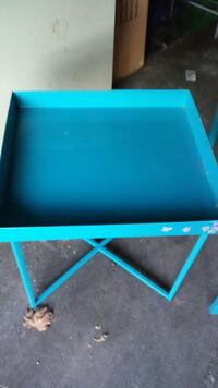 Turquoise metal stakable tables  Cicero, 60804