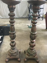 "Two candle holders 19"" tall  Rockville, 20853"