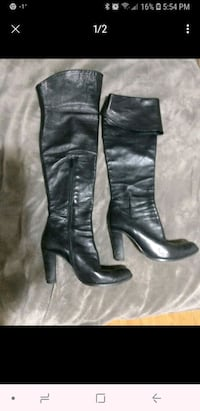 Black leather boots Brossard, J4W 1S2