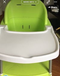 baby's green and white high chair Vancouver, V5R 4E4