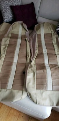 Tan leather look  seat covers Goffstown, 03045