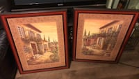 two brown wooden framed painting of house Inglewood, 90303