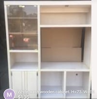 White wooden cabinet with shelf screenshot Roseville, 95678