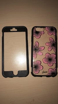 Pink and black iPhone 6/6s phone case