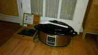 grey and black slow cooker
