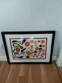 Calder print nicely framed. 36 inches wide 28 inches tall.