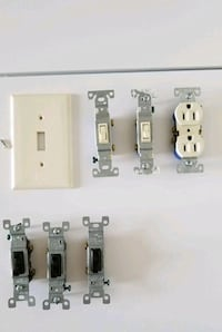 5 Electrical Switches, 1 Electrical Outlet & 1 Switch Plate