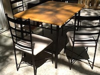 Wood and iron table and chairs  Atlanta, 30354