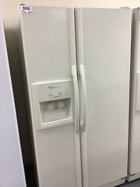 Whirlpool side by side refrigerator 10% off almond color  Las Vegas, 89104