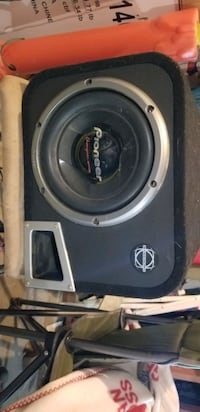 Sub in ported box with amp Calgary, T2Z 4H9