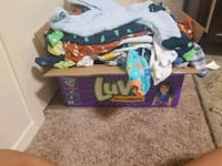 Box full of baby boy clothes  Euless, 76040