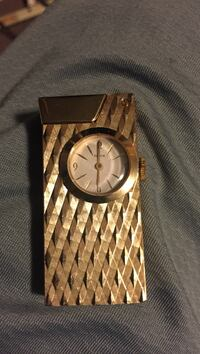 Swiss made swank zippo/lighter watch
