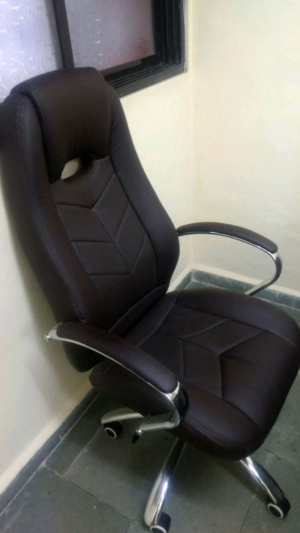 High back comfortable leather office chair