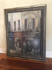 Framed French Cafe picture