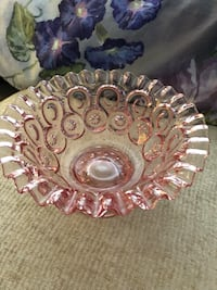 Pink glass bowl Chantilly, 20152