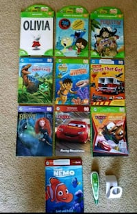 Leap Frog Tag Reading Books and Pen lot Clinton, 01510
