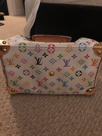 White and pink leather louis vuitton tote bag Caledon, L7C