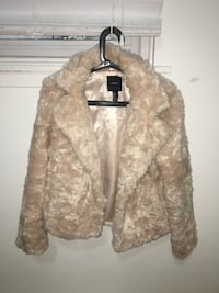 Forever 21 pink nude fur coat