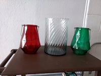 two green and red ceramic vases El Paso, 79904