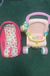 Baby stroll and carrier set