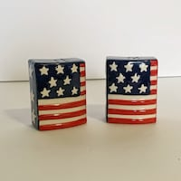 American Flag Salt and Pepper Shakers Boston