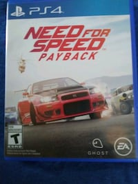 PS 4 Video Game ( Need For Speed Pay Back) $10 Philadelphia