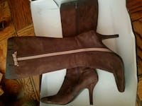 pair of brown leather boots 57 km