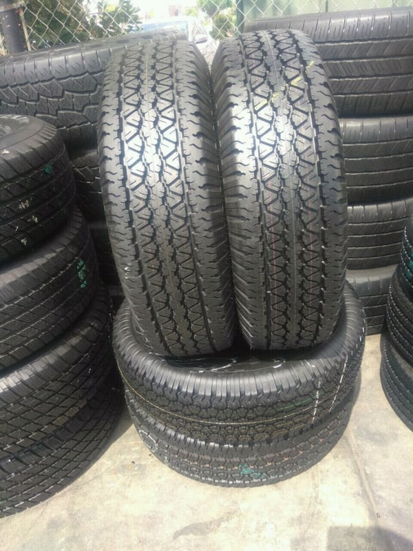 Seminew set of 4 tires P (Phone number hidden by letgo) DYEAR WRANGL 43091332-2422-405f-ac5c-9abaf2bb0e12