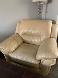 Real leather chair
