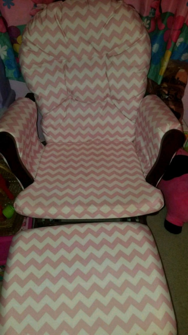 Ideas About Pink And White Glider And Ottoman