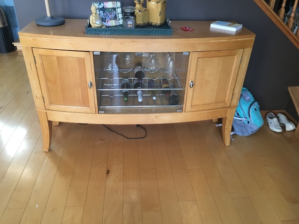 Used Harlem Furniture Solid Wood Buffet Cabinet For Sale In Joliet