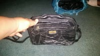 black leather 2-way bag null