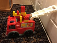 Mega blocks fire truck with blocks  Manassas, 20110