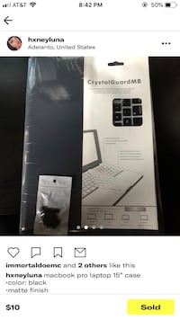 """15"""" MacBook Pro shell, soft case, keyboard and screen protector"""