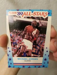 1989 Michael Jordan Fleer All Stars sticker mint!