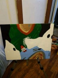 green and white abstract painting South Euclid, 44121