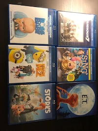 7 DVD's All Have Both Blu Ray And Regular DVD Excellent Condition Thornton, 80233