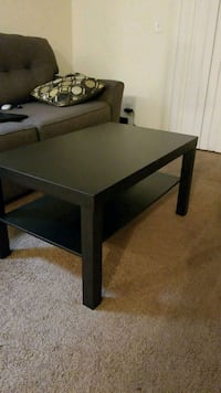 rectangular black wooden coffee table Los Angeles, 91306