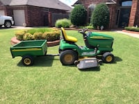 John Deere Riding Lawn Mower Tractor with Trailer Oklahoma City, 73170