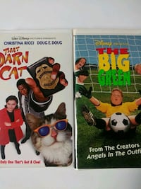 That Darn Cat and The Big Green vhs tapes