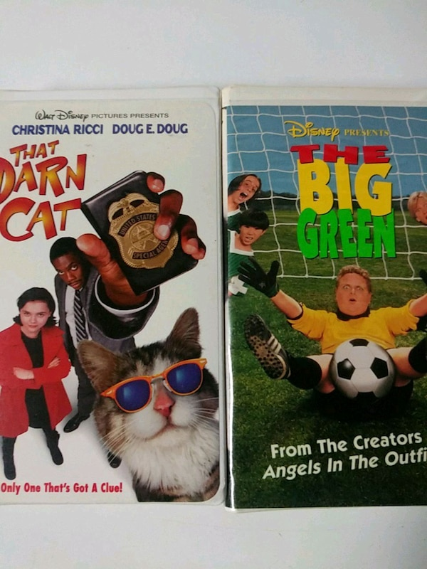 That Darn Cat and The Big Green vhs tapes 9c249321-c6c4-4c36-a661-2ec926814088