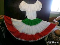 girl's white and green tutu dress Castroville, 95012