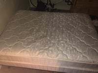 Nearly new full size mattress and box spring