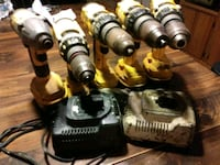 five yellow cordless hand drills Houston, 77020